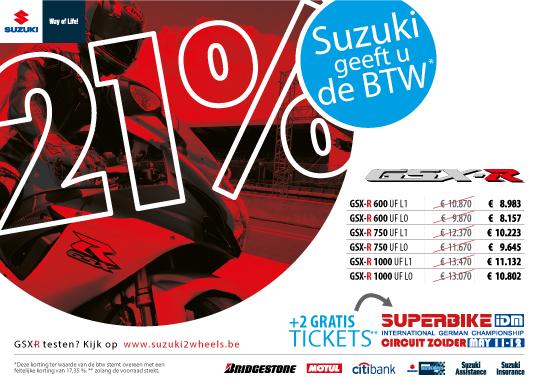 BTW actie Suzuki